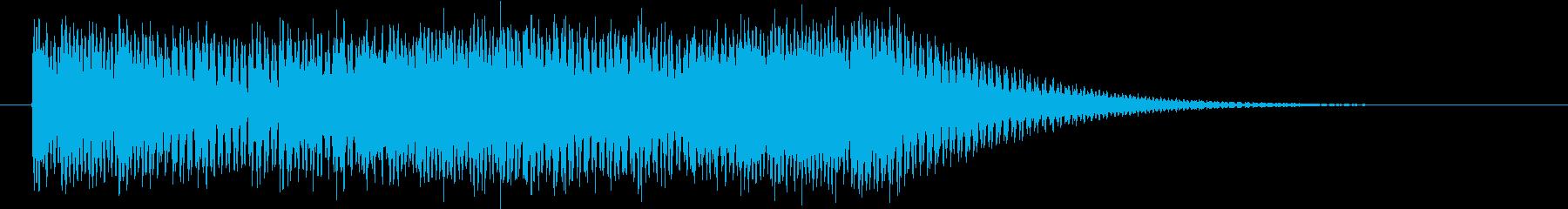 スタイリッシュでクールなロゴ・ジングルの再生済みの波形