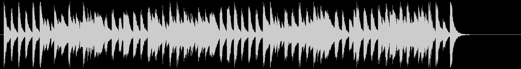 軽快でコミカルなジャズピアノ(ソロ)の未再生の波形