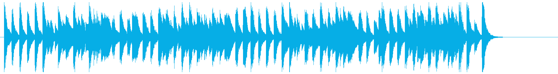 軽快でコミカルなジャズピアノ(ソロ)の再生済みの波形
