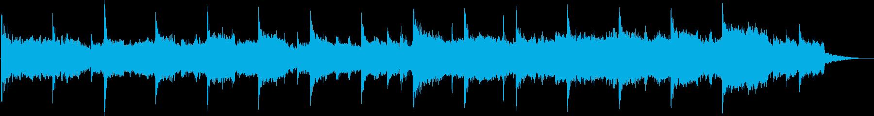 悲しく切ないバラードジングルの再生済みの波形