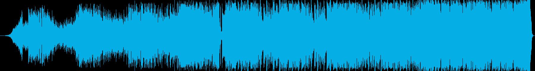 90sなオシャレで疾走感溢れるEDM洋楽の再生済みの波形