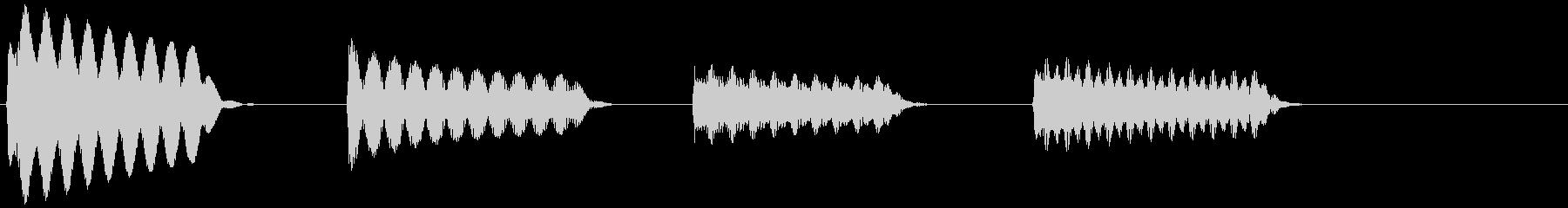 ピピピピッ(目覚まし時計のアラーム音)の未再生の波形