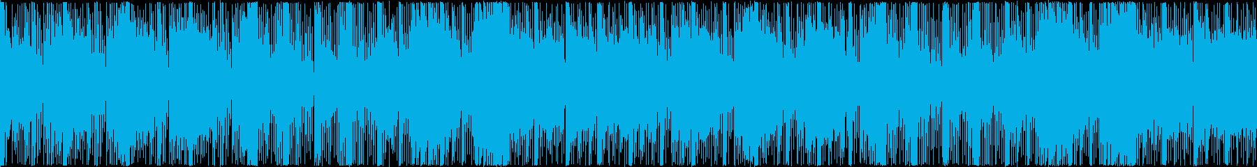 ホラー・緊迫したシーンの曲の再生済みの波形
