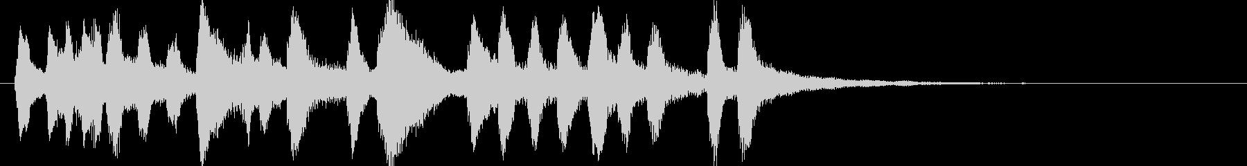 弦楽器とチェンバロによるジングルの未再生の波形