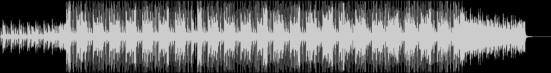 ダークな感じのヒップホップのBGMの未再生の波形