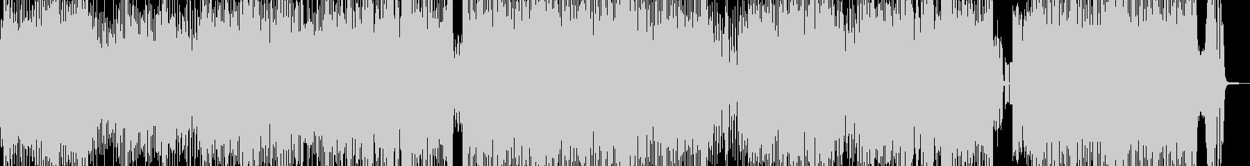 クセになるメロディのコミカルテクノ 短尺の未再生の波形
