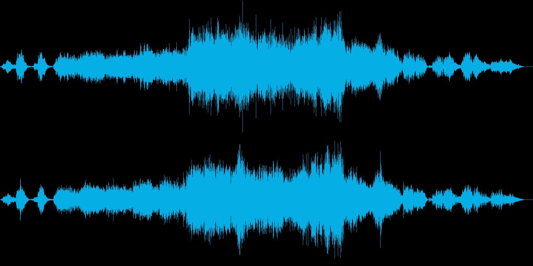 森をイメージした、幻想的な音楽の再生済みの波形
