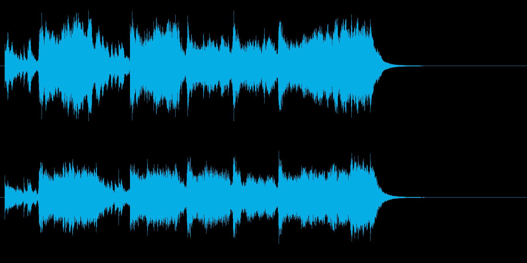 ステージクリア~力強いファンファーレの再生済みの波形