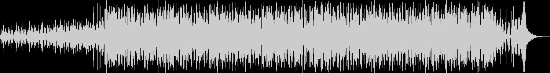 レトロでダンサブルなBGMの未再生の波形
