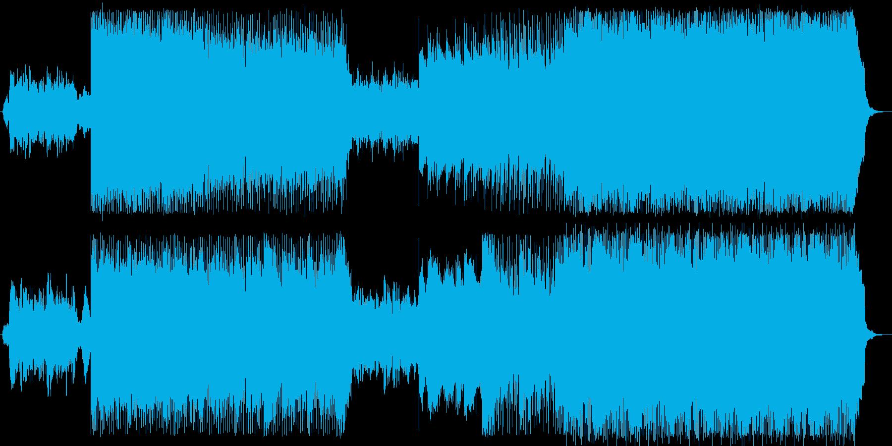 明るく高揚感のあるBGMの再生済みの波形