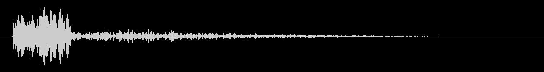 ピロッというシステム音の未再生の波形