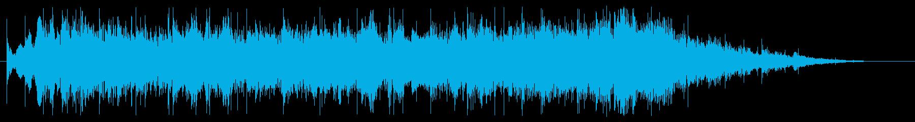 機械的・近未来的なジングル。ループ有の再生済みの波形