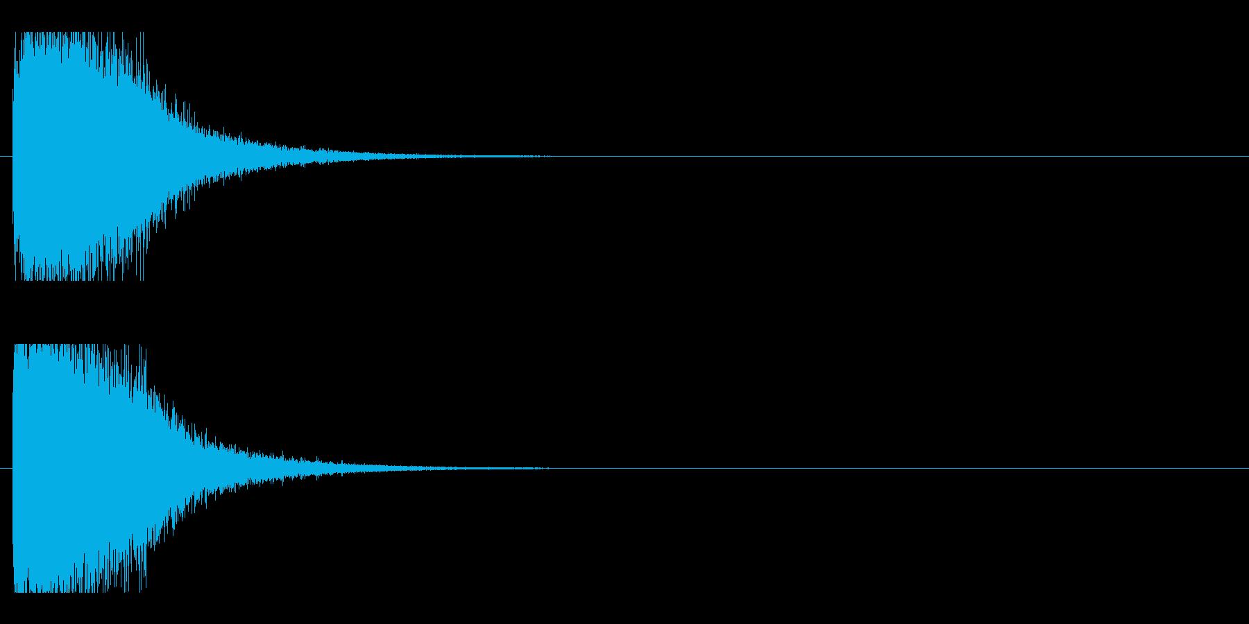 レーザー音-78-1の再生済みの波形