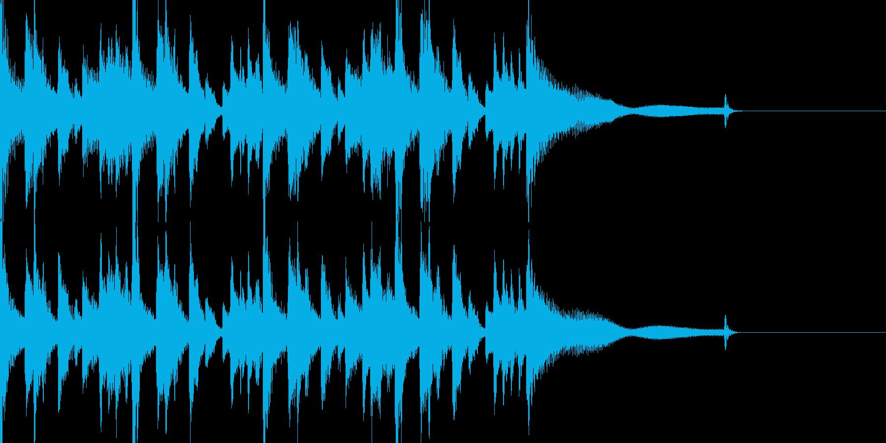 ジャズ風ジングルの再生済みの波形