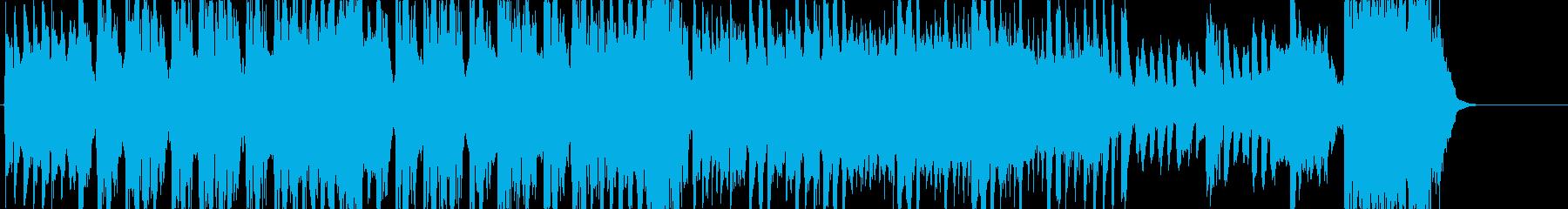 和風の勢いのあるイベントBGMの再生済みの波形