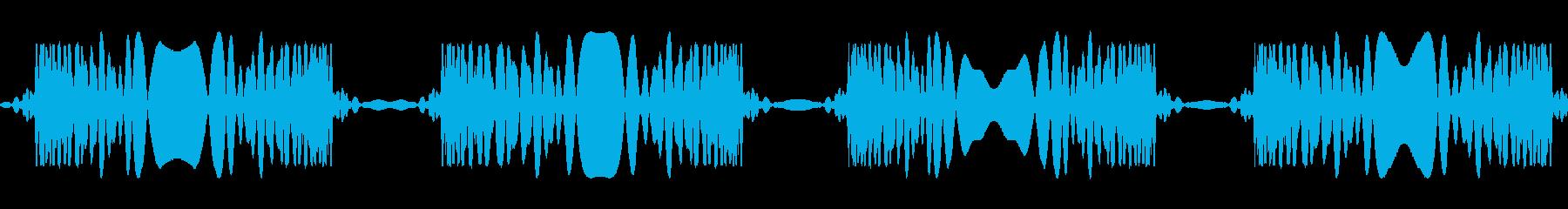 レコードスクラッチ4回:ジュクジュクの再生済みの波形