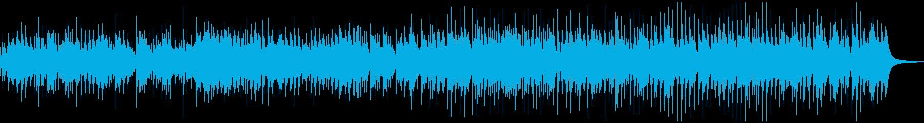 お洒落なピアノ、カントリーワルツBGMの再生済みの波形