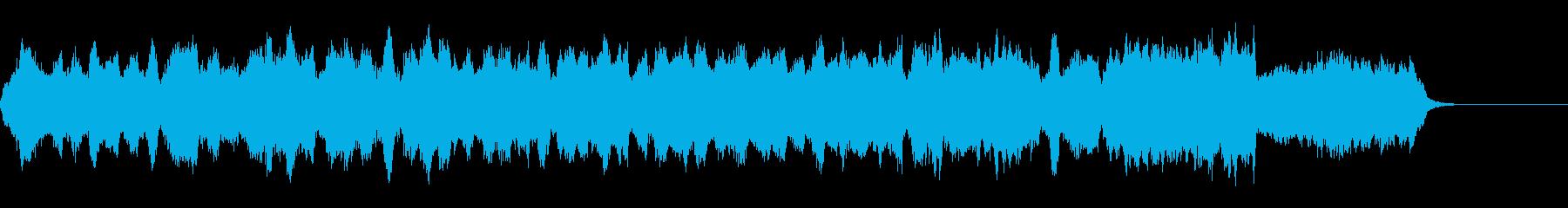 クラシック調の美しいジングルの再生済みの波形