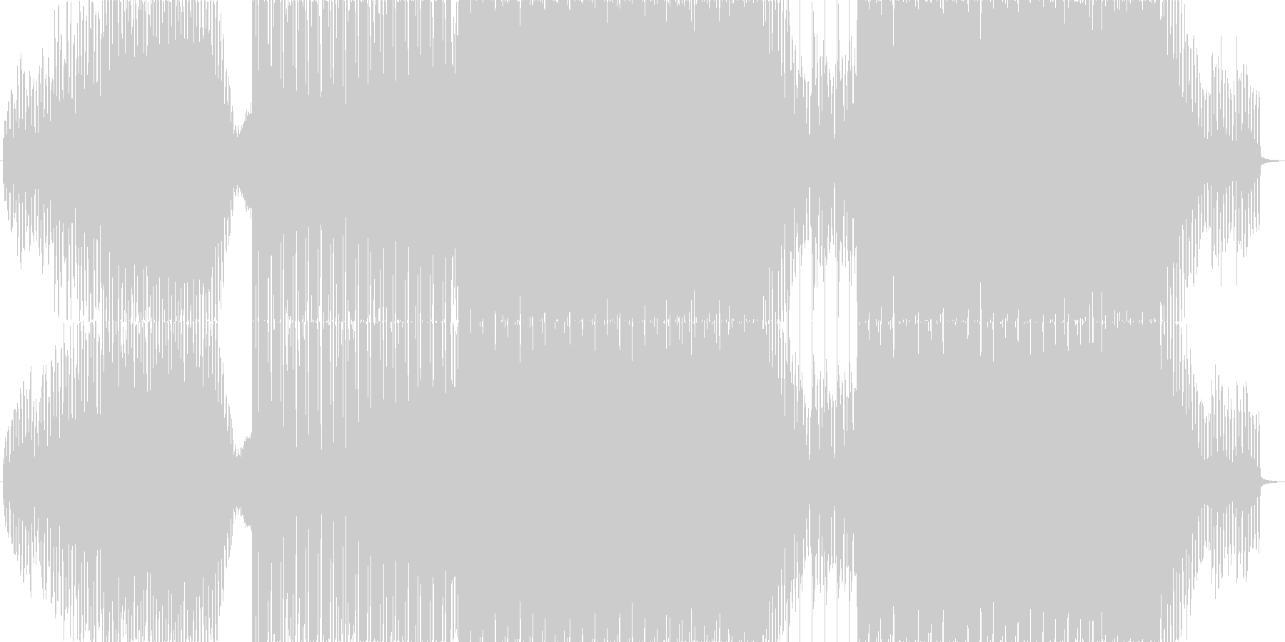 爽やかなで疾走感のあるEDMの未再生の波形