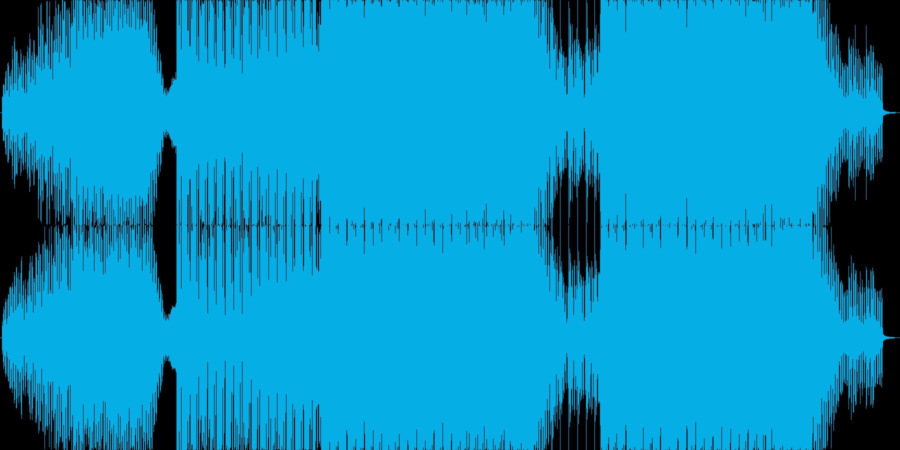 爽やかなで疾走感のあるEDMの再生済みの波形