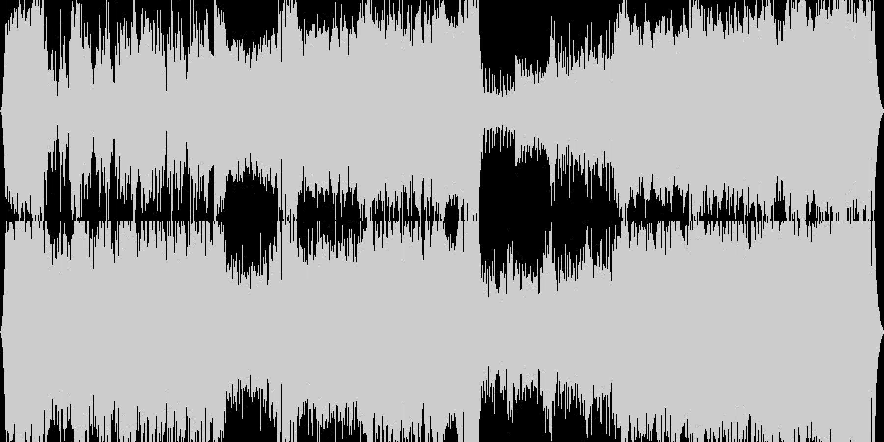 オーケストラ、テーマ曲、オープニングの未再生の波形