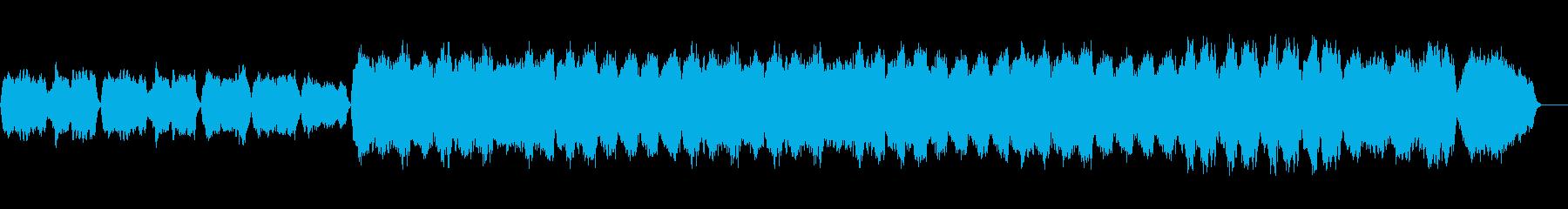 バグパイプのしっとりした楽曲の再生済みの波形