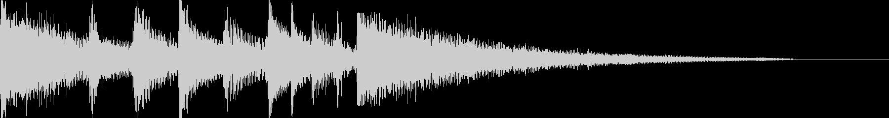ピアノ、グロッケンシュピール、アコ...の未再生の波形