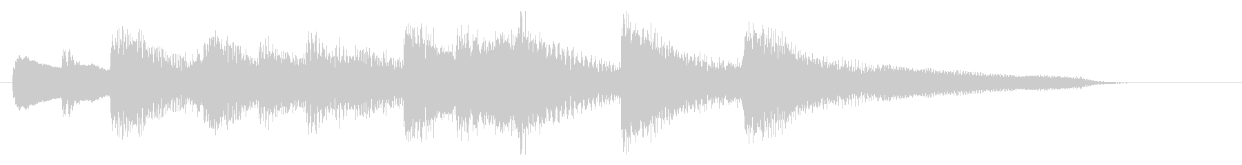 牧歌的なピアノジングルの未再生の波形