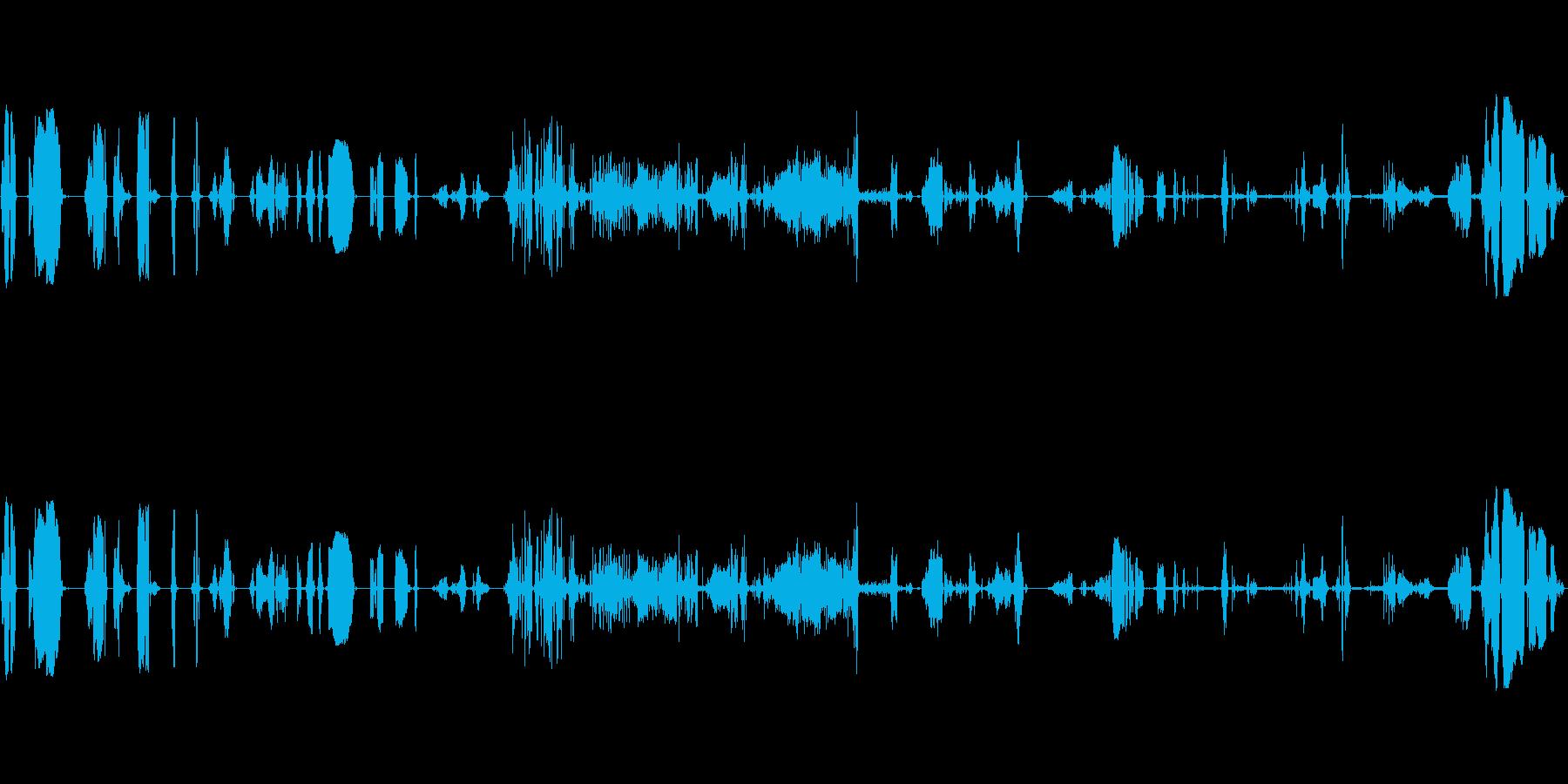 ドライアイスでのさまざまなホットア...の再生済みの波形