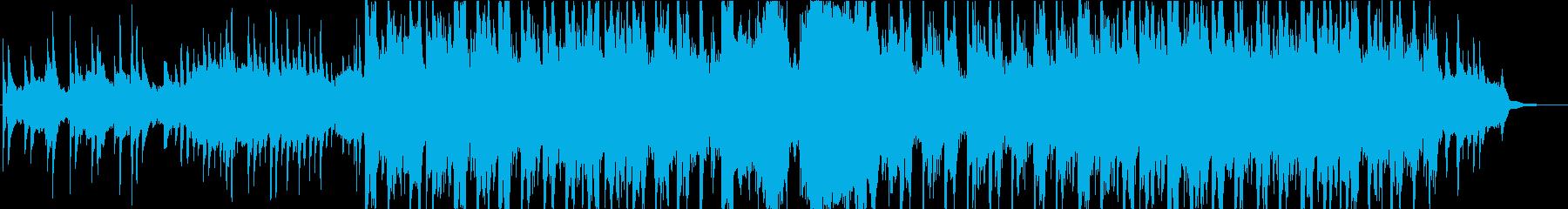 壮大なイメージの和風曲の再生済みの波形