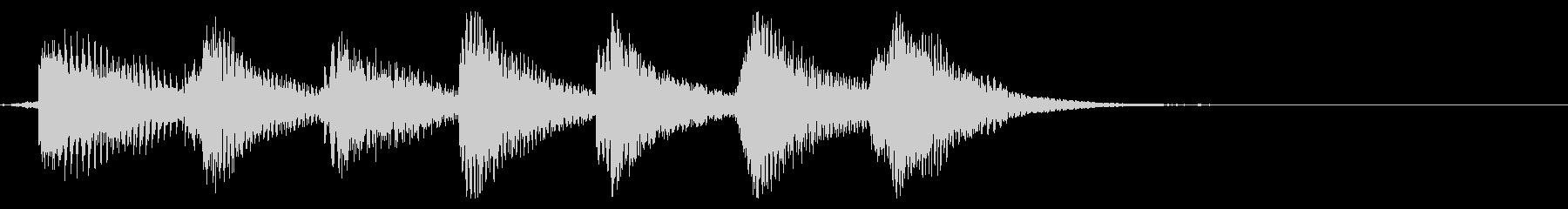 鍵盤ハーモニカとマリンバのジングルの未再生の波形