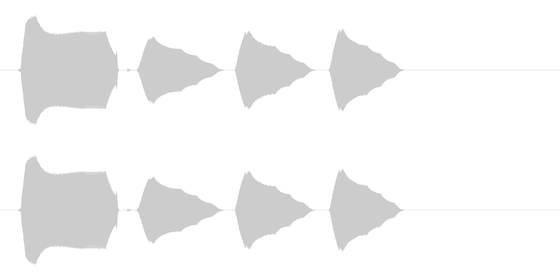 小鳥の明るい鳴き声(短い)の未再生の波形