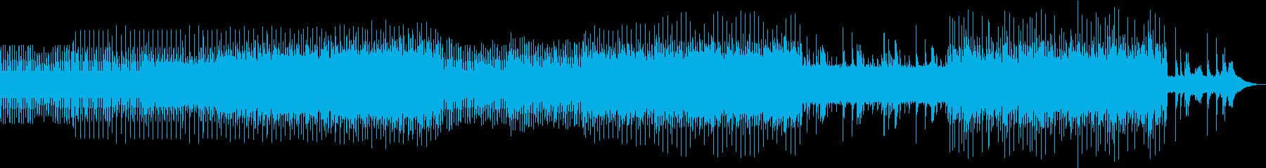 ドライブ向けの明るいミニマルテクノの再生済みの波形