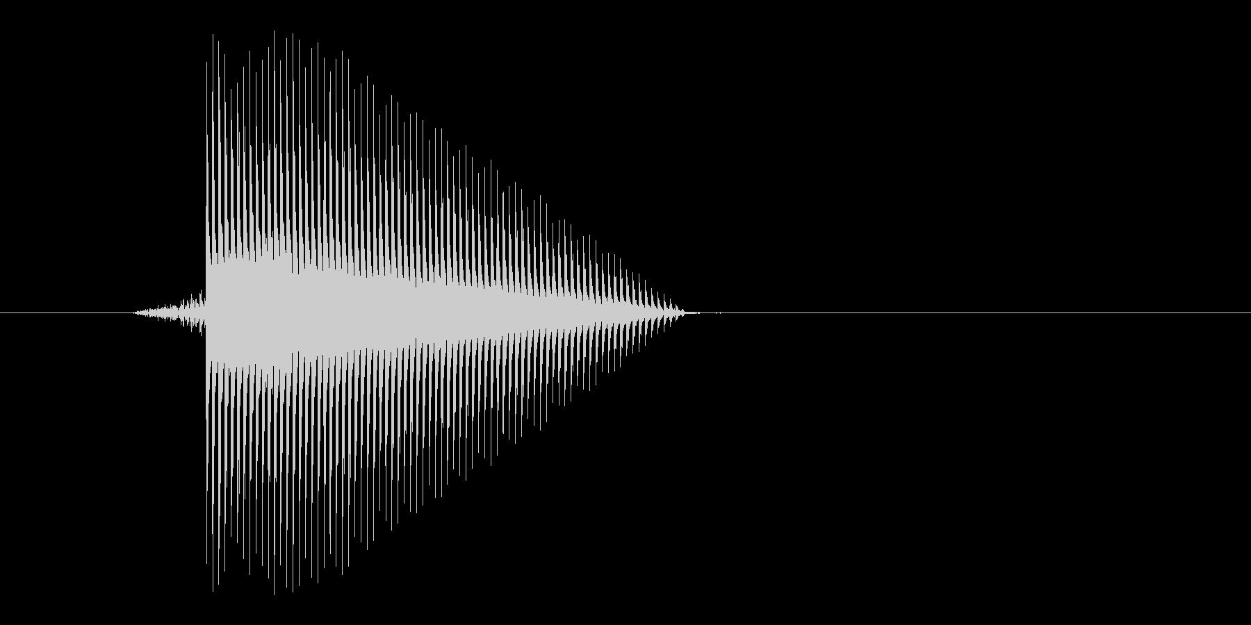 ゲーム(ファミコン風)セレクト音_023の未再生の波形