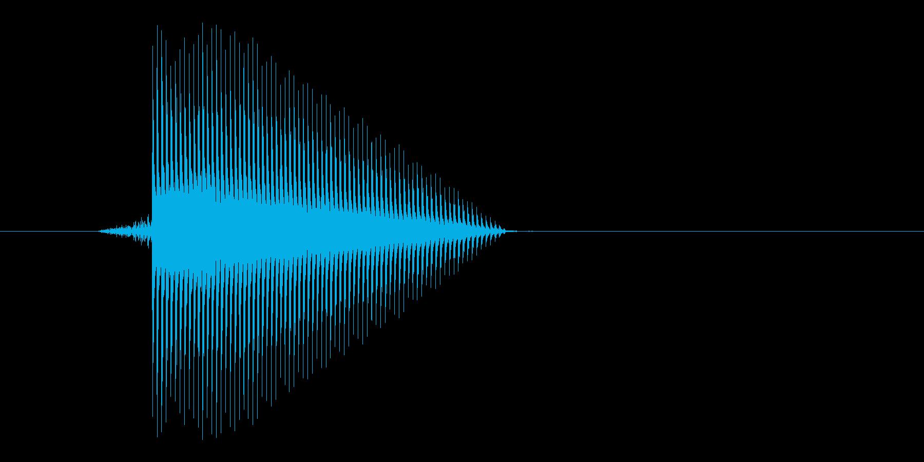 ゲーム(ファミコン風)セレクト音_023の再生済みの波形