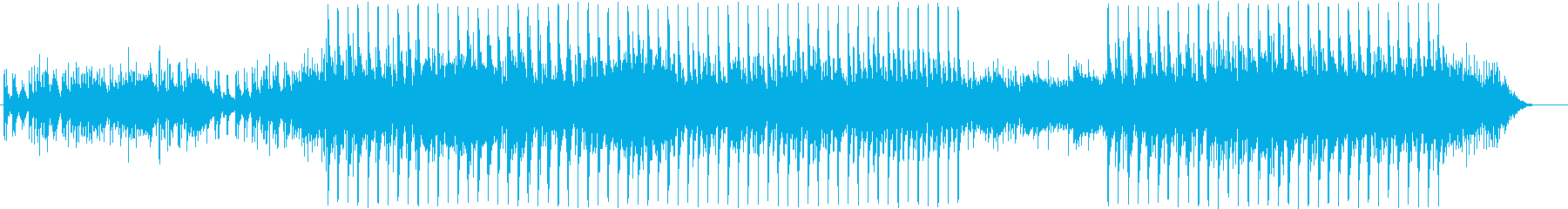 おしゃれ、ハイテクのリズム音楽の再生済みの波形