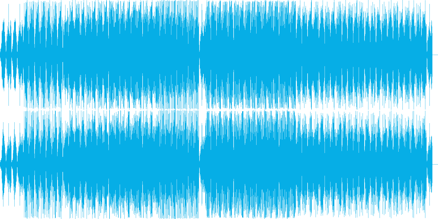 House music with a mysterious atmosphere's reproduced waveform