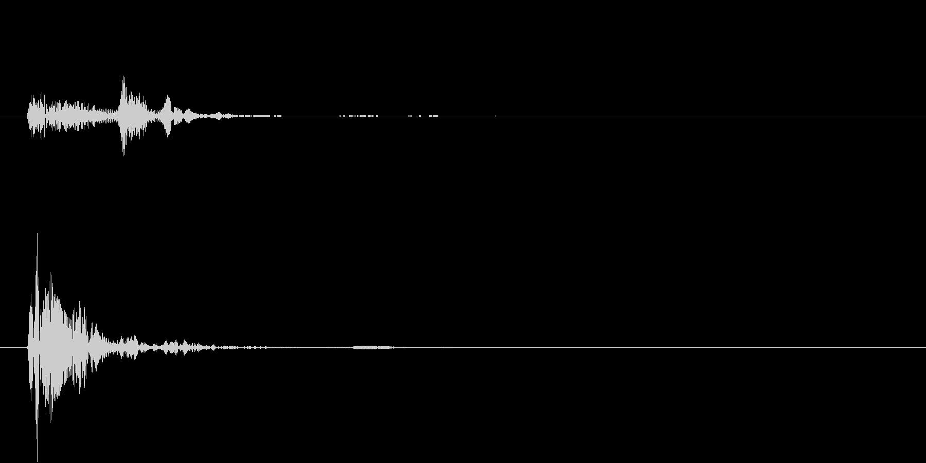 ッポの未再生の波形