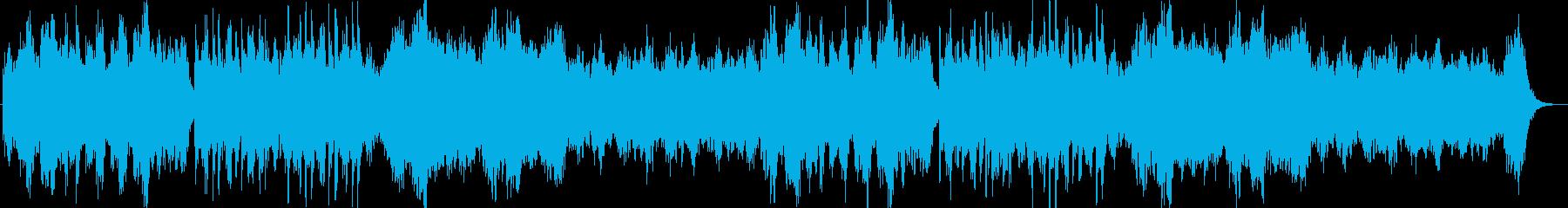 ドラマティックなシンセサイザー曲の再生済みの波形