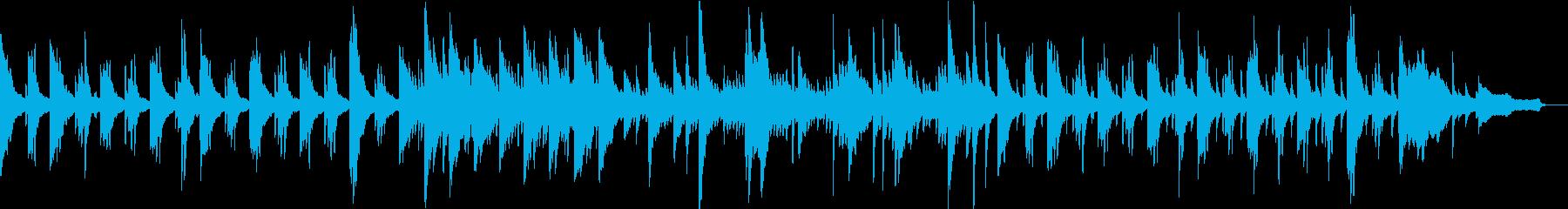 感動、切ない系、ピアノ曲の再生済みの波形