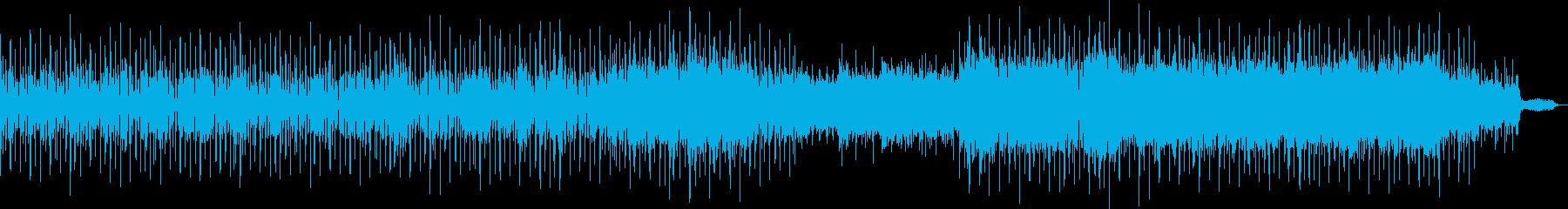 リズミカルかつのどかで広がりあるBGMの再生済みの波形