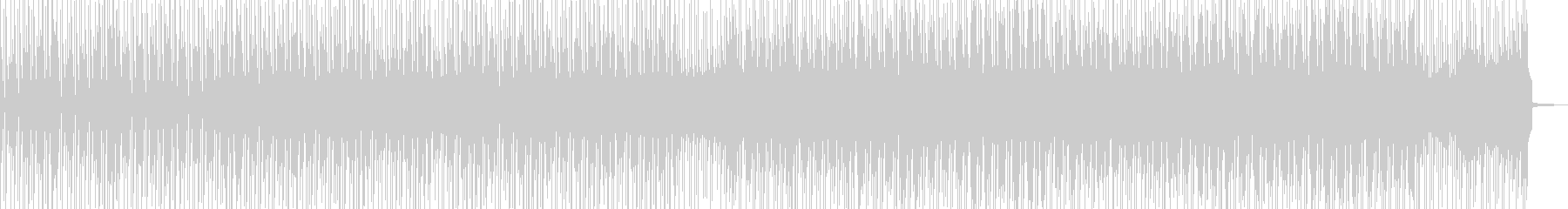 徐々に賑わう動画に・2部構成ポップス Cの未再生の波形