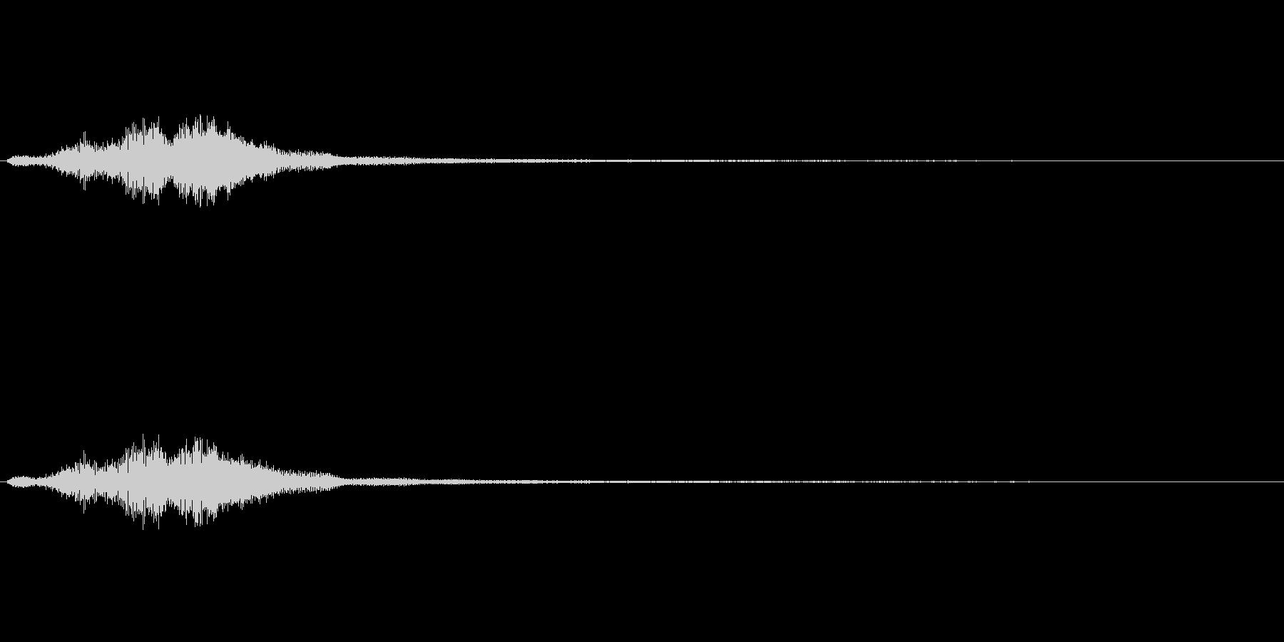 ハープグリッサンド上行3回~Aの未再生の波形