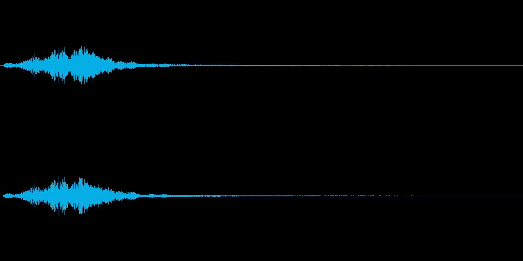 ハープグリッサンド上行3回~Aの再生済みの波形