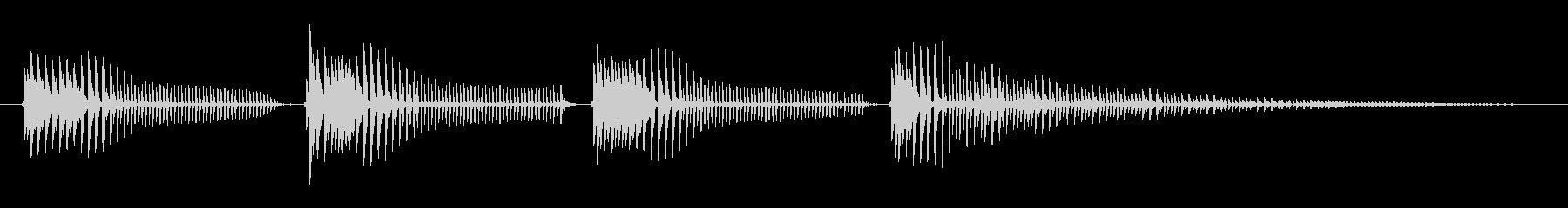 バスケットへ:低音口ハープの結合の未再生の波形