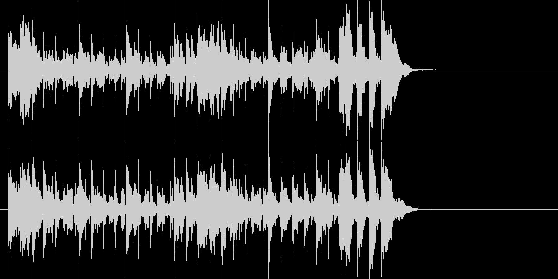 ベースラインが特徴的な淡々としたジングルの未再生の波形