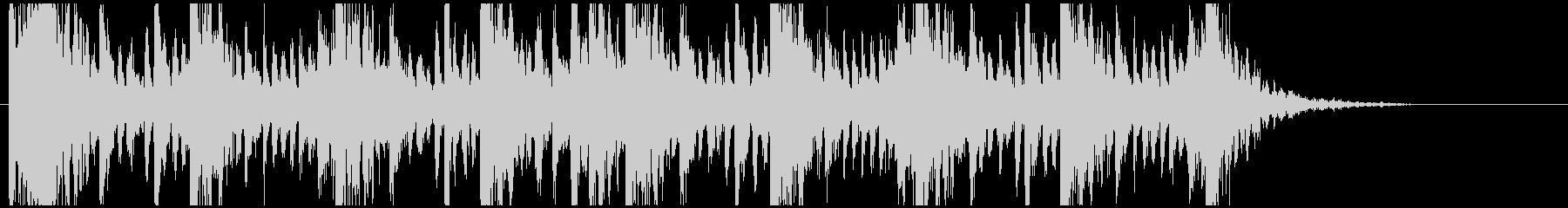 和太鼓のリズム2 残響なしの未再生の波形