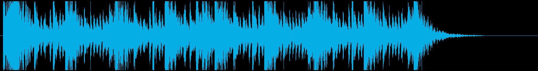 和太鼓のリズム2 残響なしの再生済みの波形