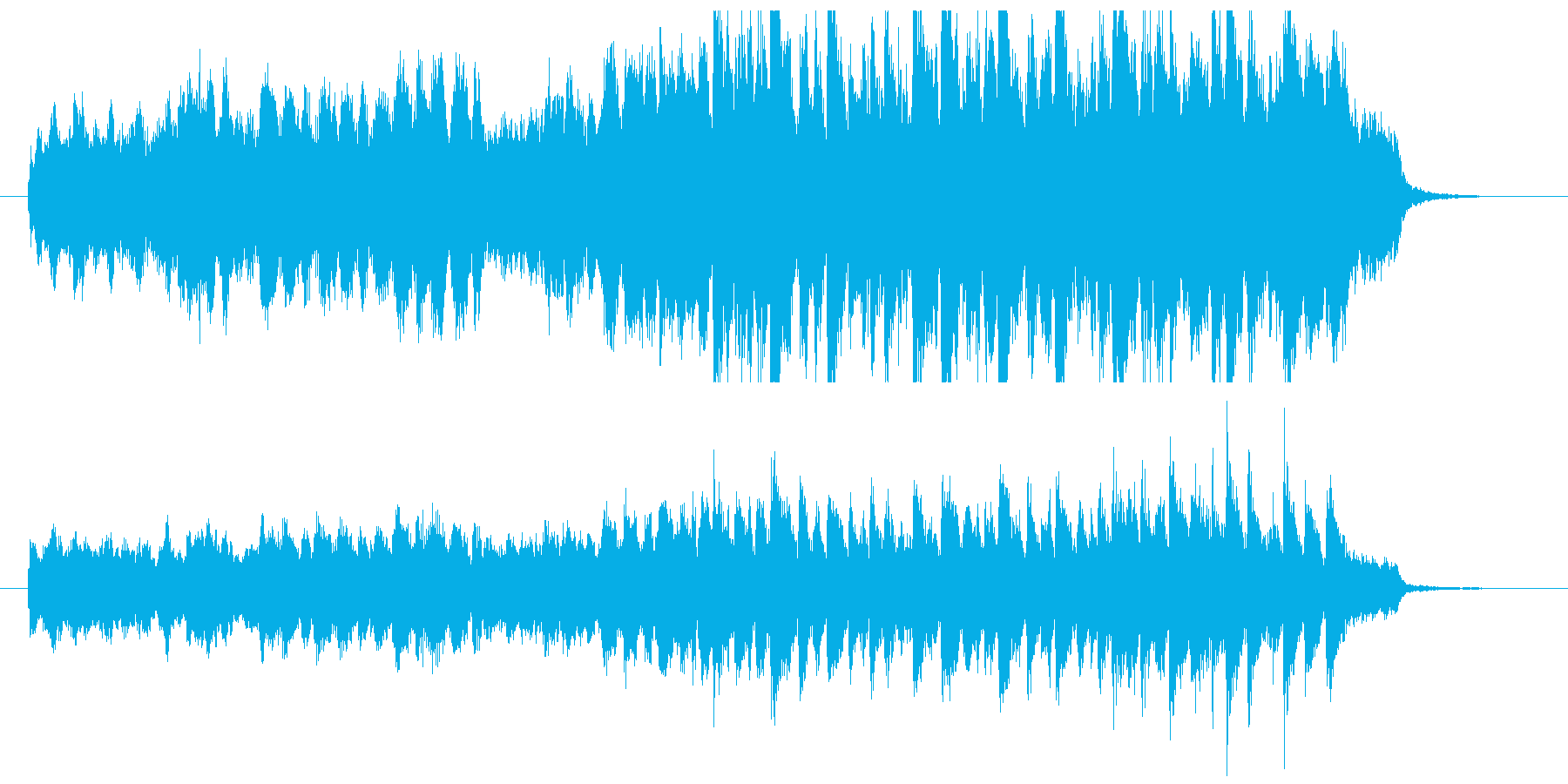 30秒CM前向き爽快ポップなオーケストラの再生済みの波形