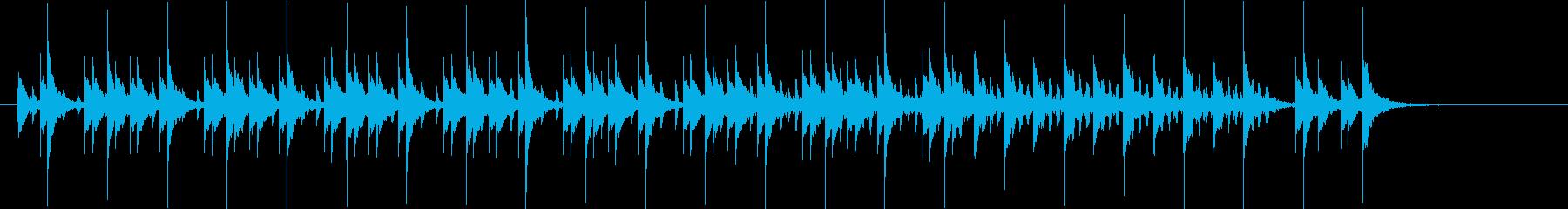 機械的で現代的なポップスの再生済みの波形